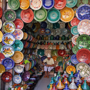 Colourful shopping in Morocco