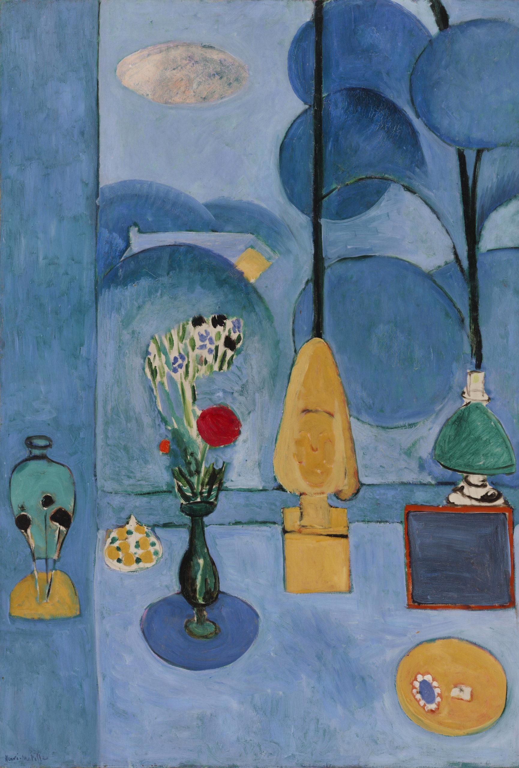 Henri Matisse, 1913, <em>La glace sans tain (The Blue Window)</em>, oil on canvas, 130.8 x 90.5 cm, Museum of Modern Art