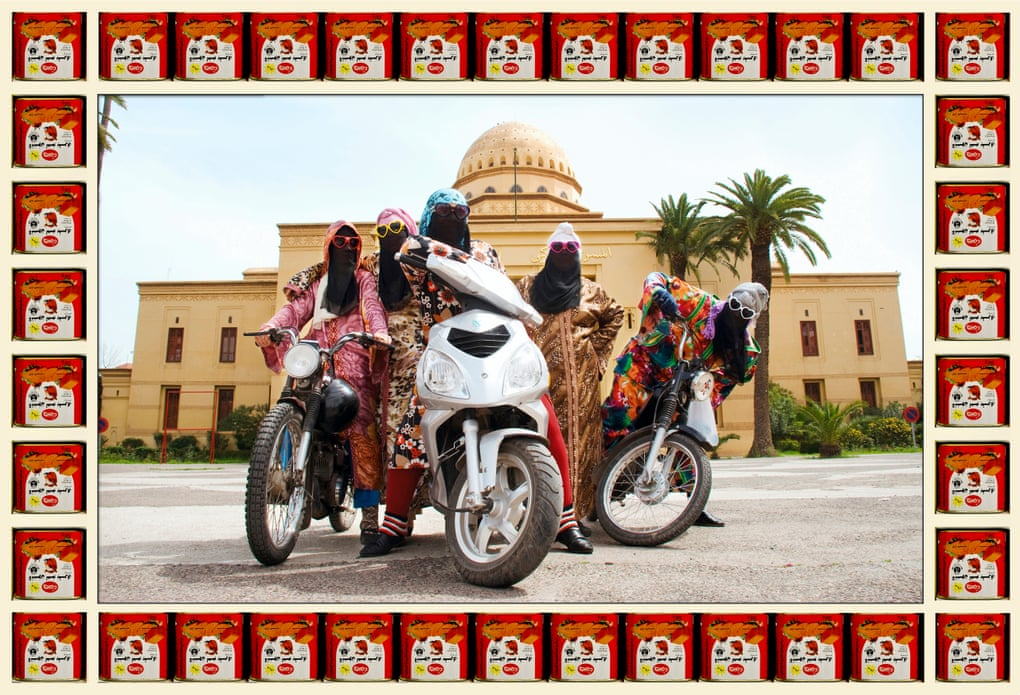 Kesh Angels, 2010. Photograph: Hassan Hajjaj/Vigo Gallery 'They worked among the snake-charmers and belly-dancers of Marrakech. I christened them Kesh Angels and gave them heart-shaped sunglasses'